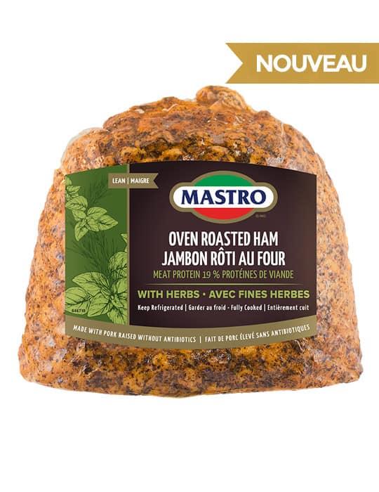 Jambon rôti au four avec fines herbes