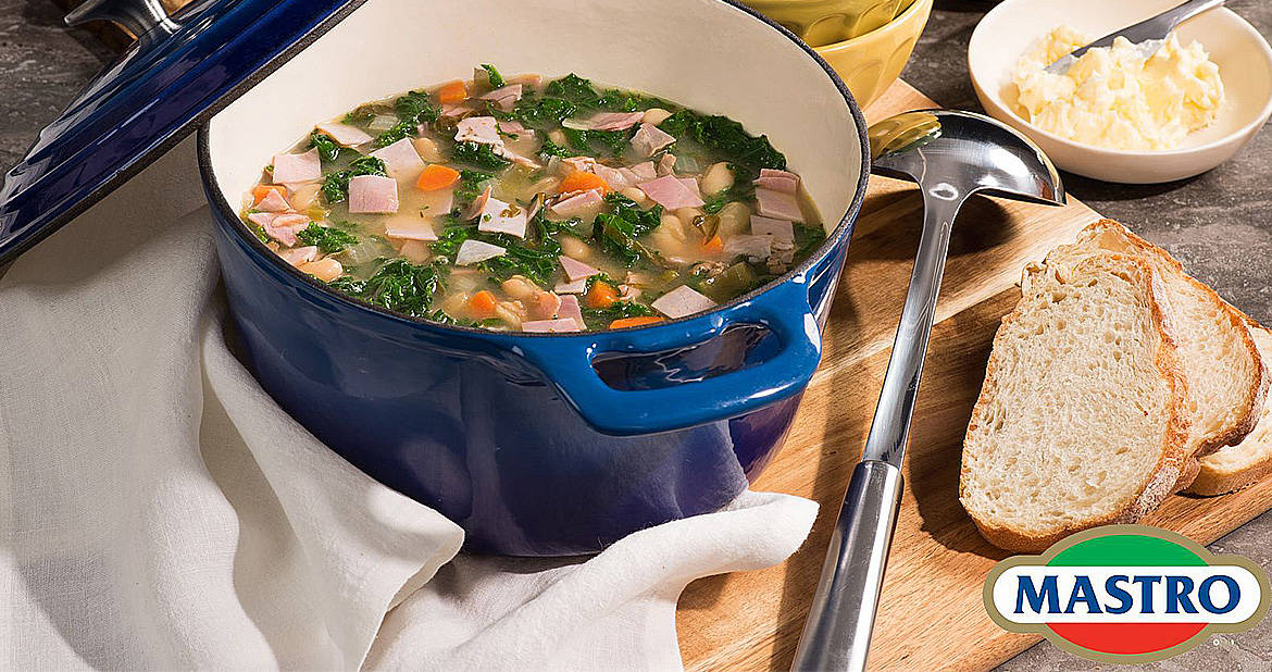 Ham and White Bean Soup with Kale