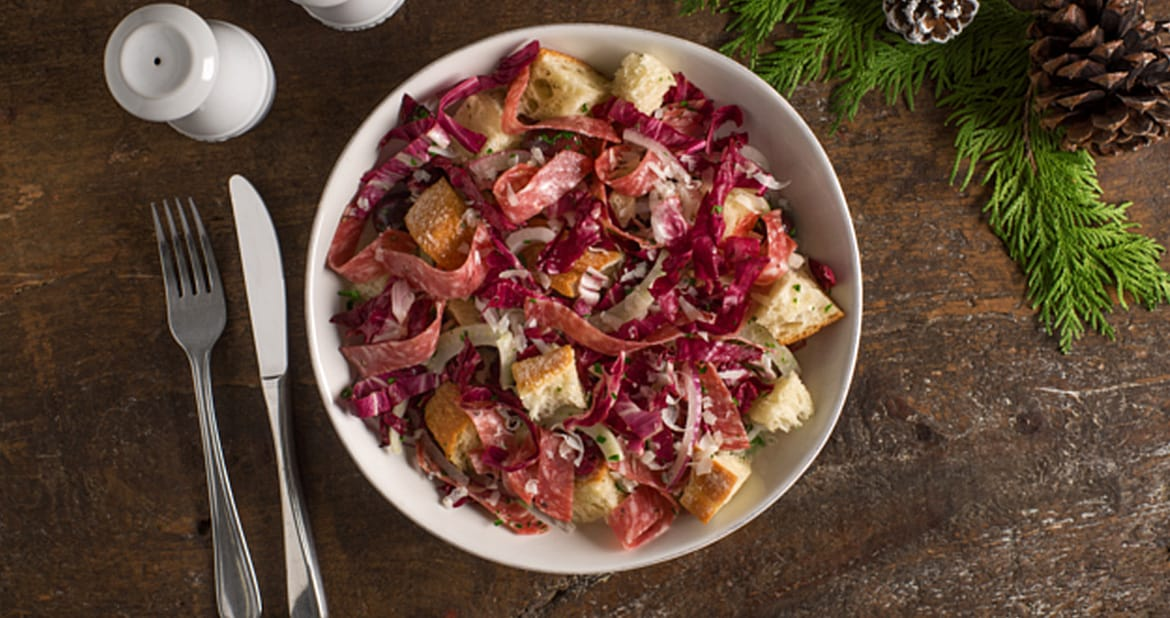 Panzanella Salad with Chianti-Fennel Salami