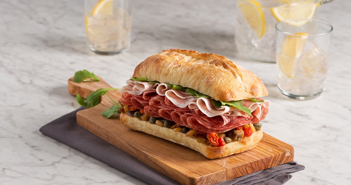 Italian Hero Sandwich with Caponata