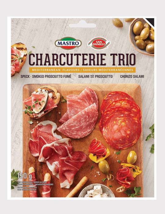 Mastro<sup>®</sup> and San Daniele<sup>®</sup> Charcuterie Trio Mediterranean Flavours