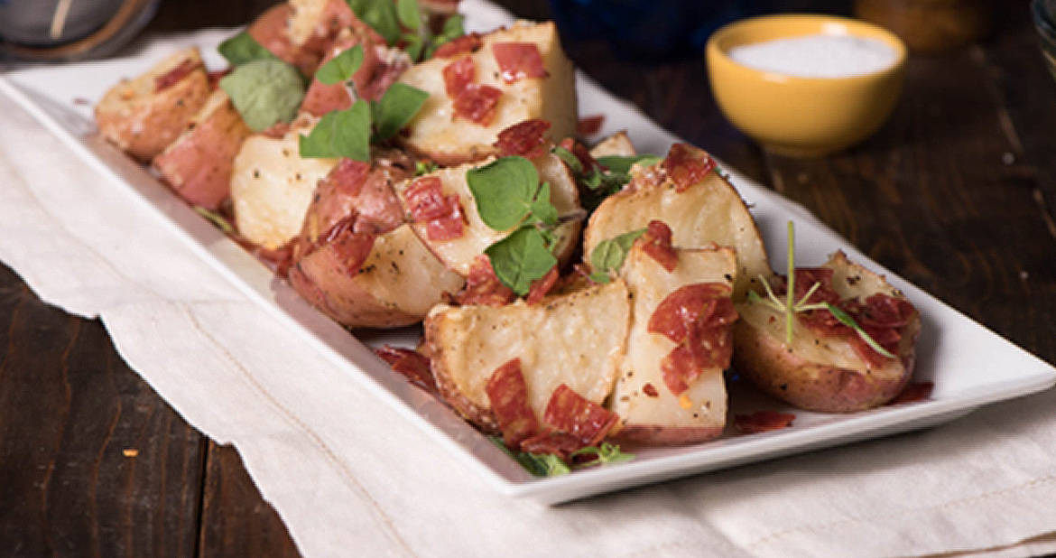 Roasted Italian Potatoes with Genoa Salami