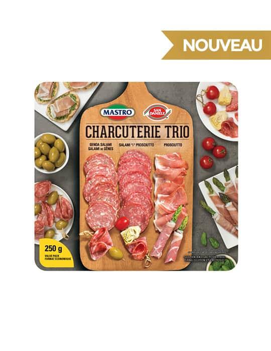 Mastro<sup>MD</sup> et San Daniele<sup>MD</sup> Charcuterie Trio, viandessalées à sec