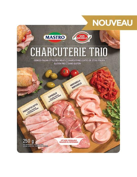 Charcuterie Trio, viandes cuites