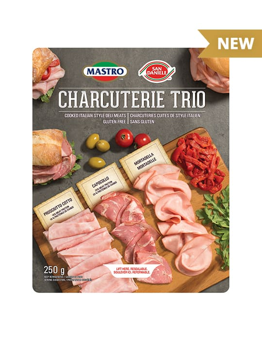 Mastro<sup>&reg;</sup> and San Daniele<sup>&reg;</sup> Charcuterie Trio Cooked