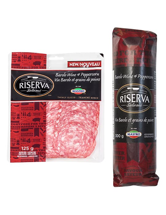 Riserva<sup>TM</sup> Barolo Wine and Peppercorn Salami
