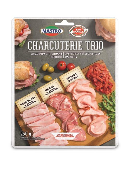 Mastro<sup>®</sup> and San Daniele<sup>®</sup> Charcuterie Trio Cooked