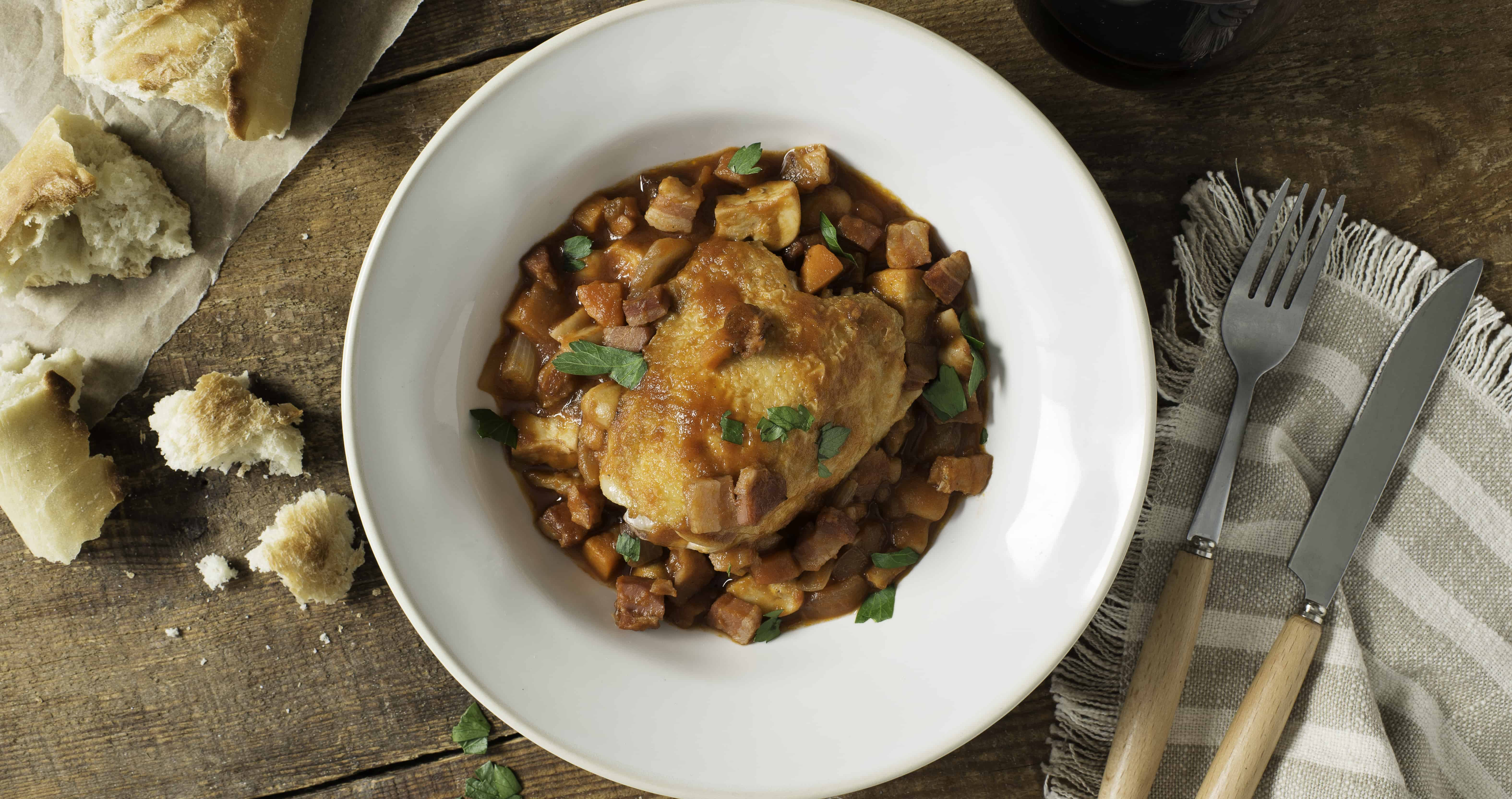 Chicken Cacciatore with Red Wine