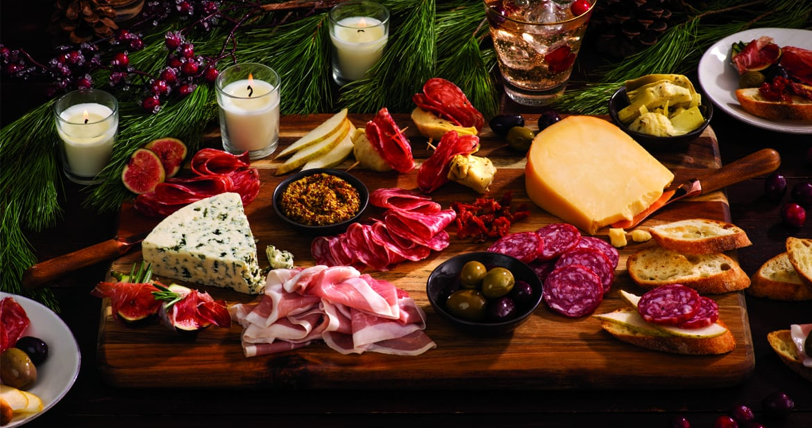 Classic Holiday Charcuterie Board