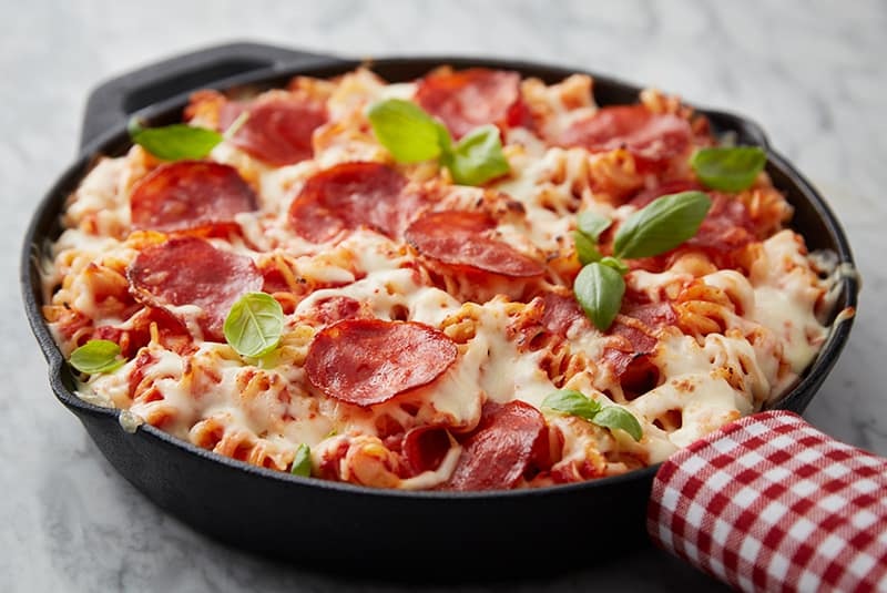 7. Baked Pasta Pizza