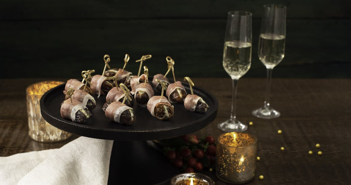 Prosciutto-Wrapped Dates with Herbed Goat Cheese