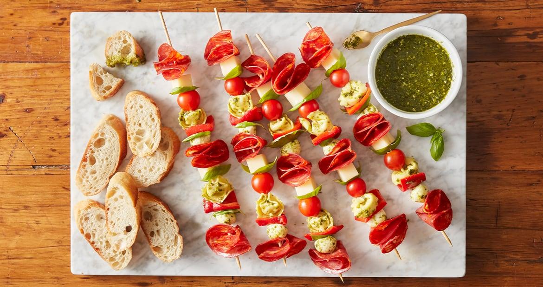 Mastro Chorizo Antipasto Pesto Tortellini Skewers