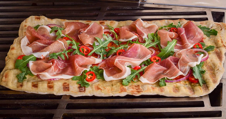 Grilled Prosciutto Flatbread