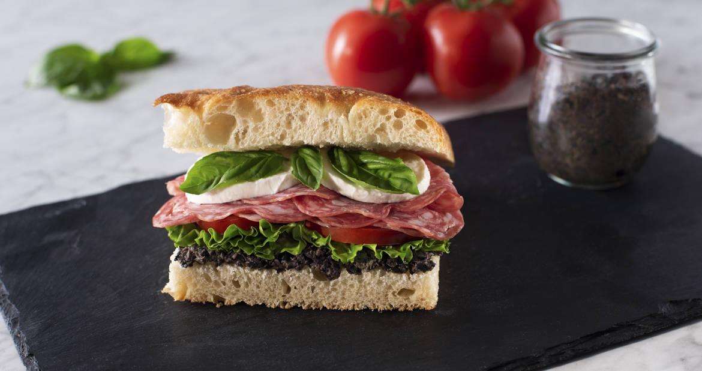 Sopressata Focaccia Sandwich