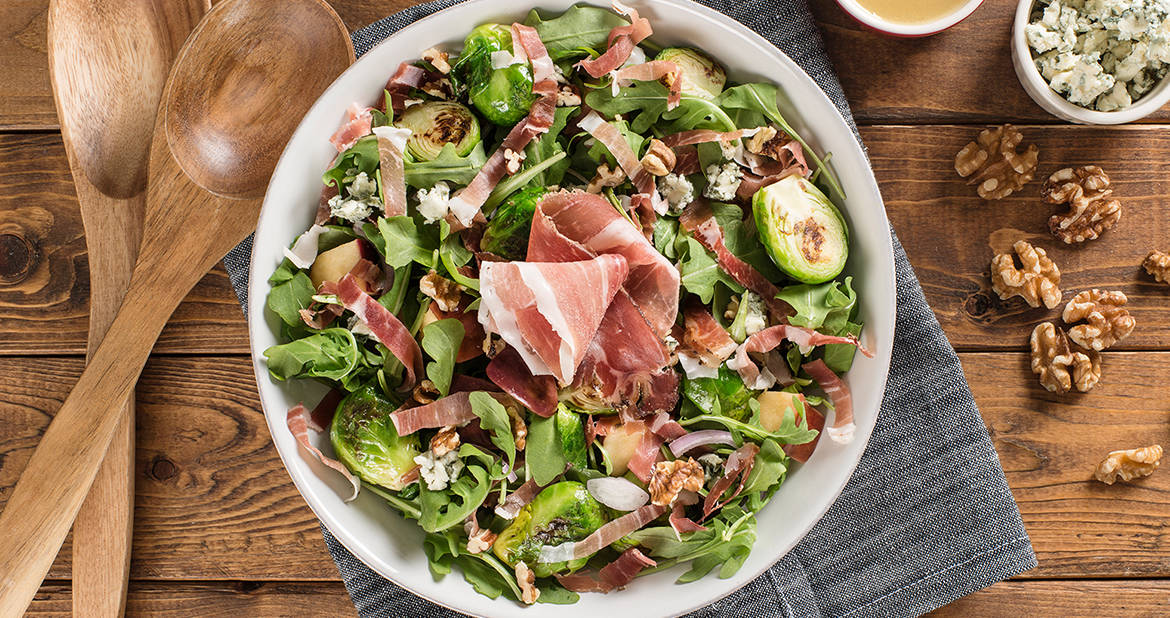 Brussels Sprouts and Smoked Prosciutto Salad